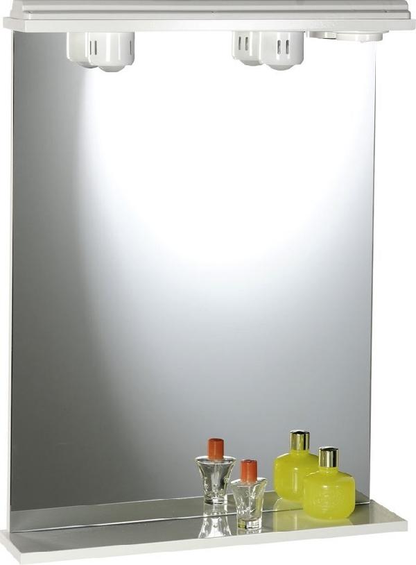 Aqualine EKOSET tükör világítással 60x75x12cm, fehér (57059)