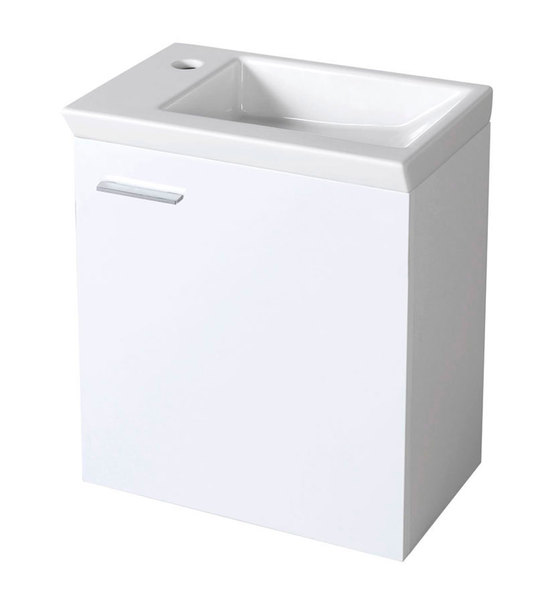 Aqualine mosdótartó szekrény 44x50x25 cm (51046P) , jobbos + ZORAN mosdó 45x5x27,5cm (4045)