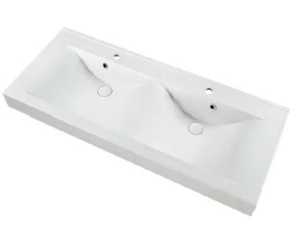 Marmy RAVENNA 120x50 dupla mosdó fényes fehér