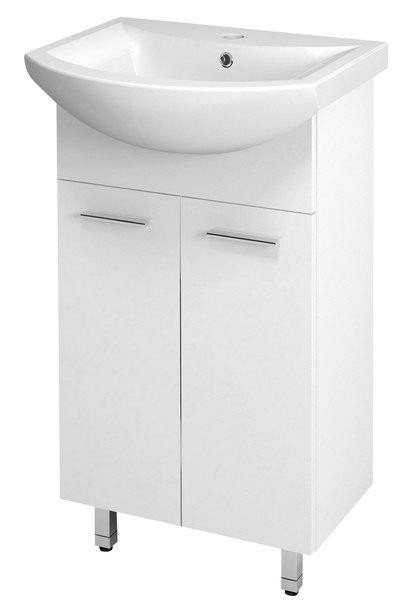 Aqualine ZOJA Mosdótartó szekrény, fehér 42x74x25cm + ZERO mosdó, kerámia 45,5x40cm