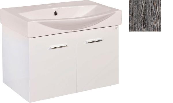 Aqualine Zoja mosdótartó szekrény 62x40x38,5 cm, mali wenge (51068) + Zoro mosdó, 64x49 cm (5065)
