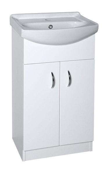 AQUALINE EKOSET mosdótartó szekrény 47x89,6x37,5 cm, fehér (57058)