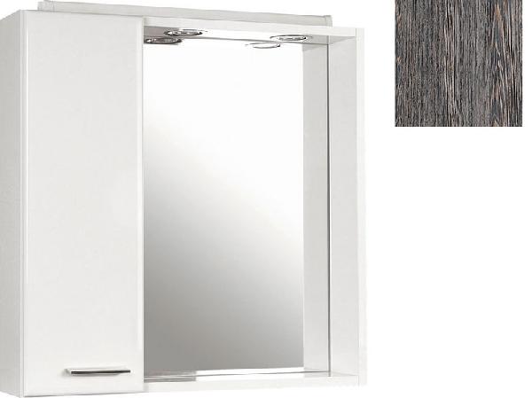 Aqualine Zoja tükrös szekrény halogén világítással, 60x60x14 cm, mali wenge