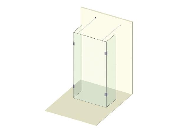 Varioglass Signum 402 Zuhanyfal 30cm x 110cm x 30cm x 200cm