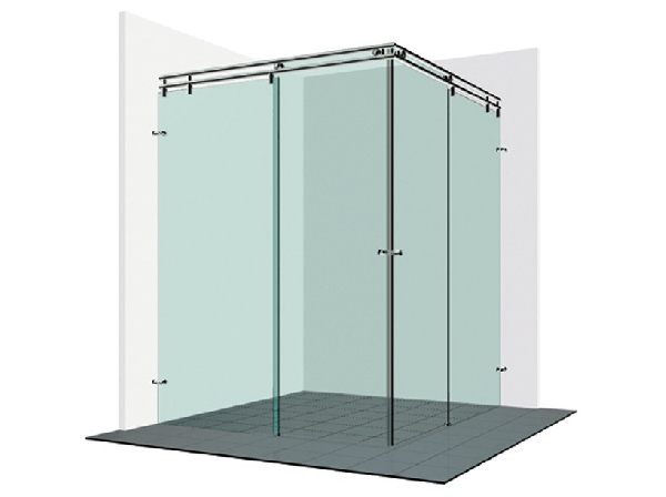 Varioglass V22-es tolóajtós zuhanykabin 100x100x200 cm