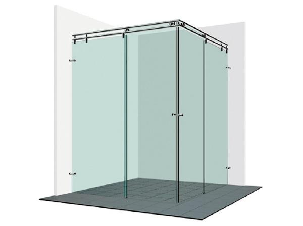 Varioglass V22-es tolóajtós zuhanykabin 90x90x200 cm