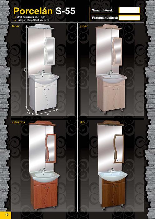 GUIDO PORCELÁN S-55 Fürdőszobaszekrény komplett