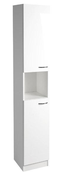 Aqualine EKOSET felső szekrény, univerzális nyitási irány,fehér 30x180x30 cm (57180)