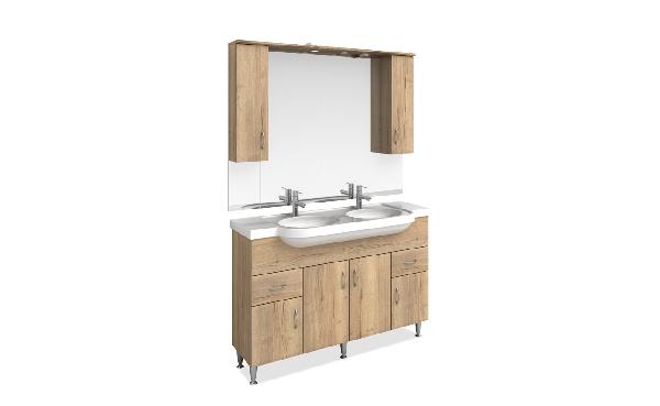 Tboss Bianka fürdőszobabútor szett 130cm (2M/2CS) - több színben