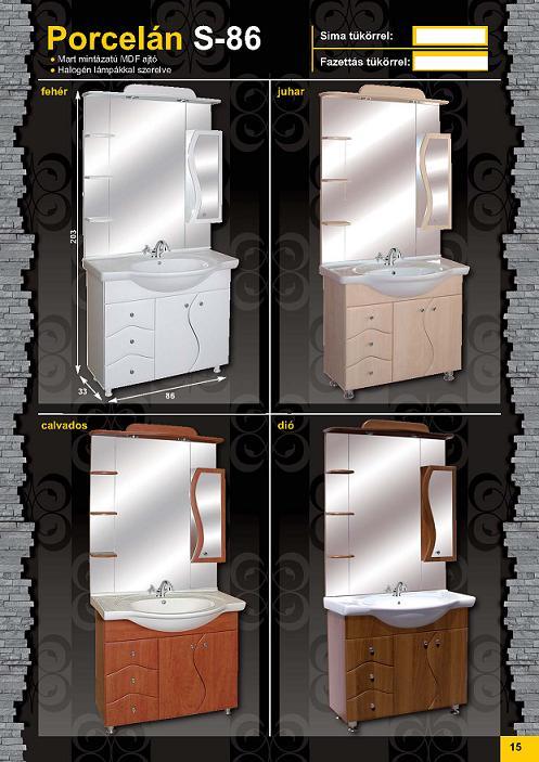 GUIDO PORCELÁN S-86 Fürdőszobaszekrény komplett