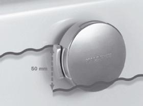 Kaldewei COMFORT-LEVEL vízszint-szabályzós lefolyó készlet, be- le- és túlfolyó  hosszabbított, 4012