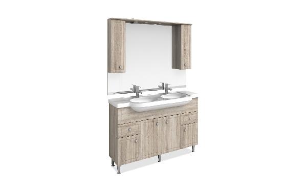 Tboss Plusz fürdőszobabútor szett 130cm (2M/2CS) - több színben