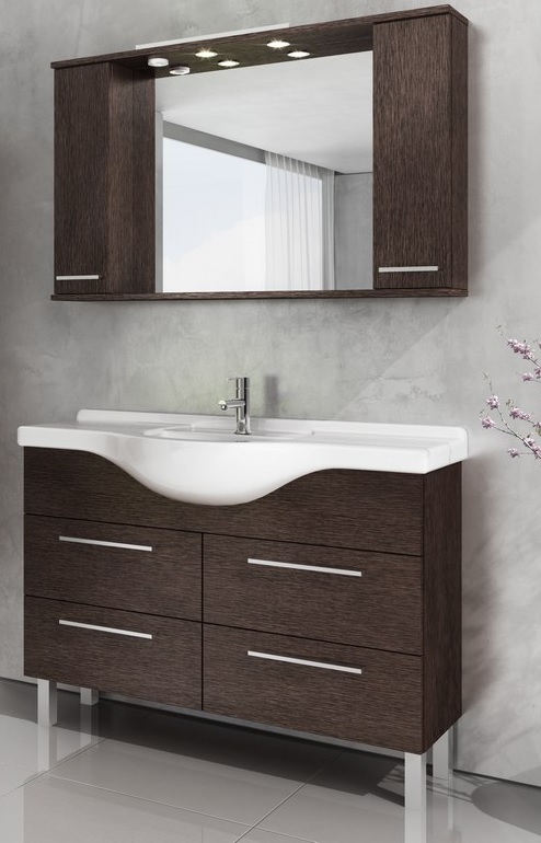 Bianka Trend 120 Fürdőszobaszekrény komplett