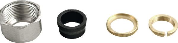 Aqualine ECO tömítés, alupex 160mm, menet 24-19, nikkel (pár) (CP9980)