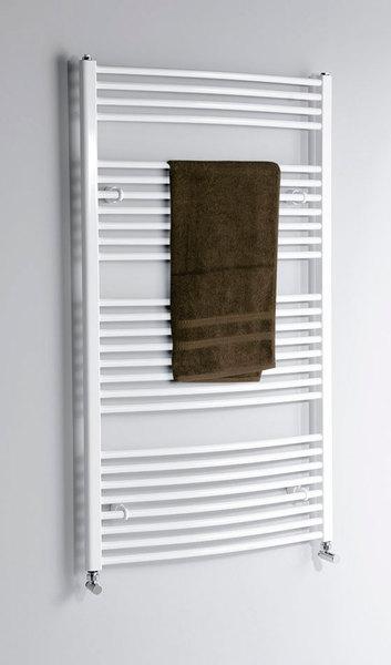 Aqualine fürdőszobai radiátor, 600x1850 mm, íves fehér (ILO86)