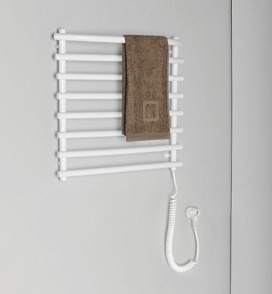 Aqualine elektromos törölközőtartó radiátor, 570/460 fehér (SU110)