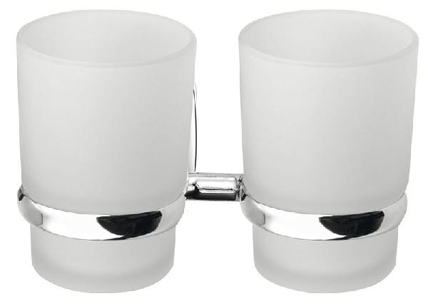 Aqualine RUMBA dupla pohártartó, tejüveg (RB105)