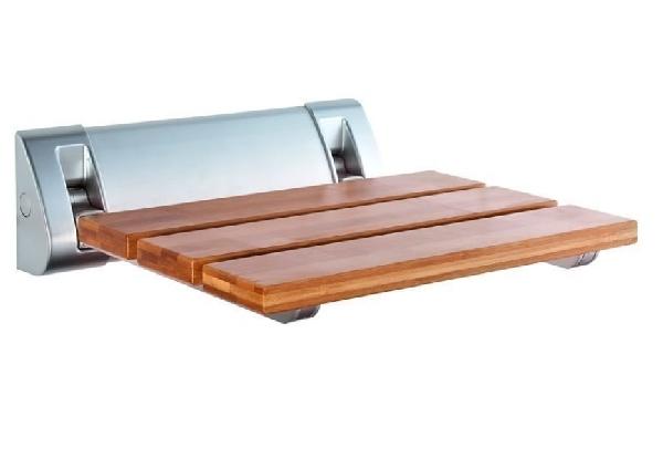 Aqualine Zuhany ülőke 32x23 cm, bambusz (AE236)