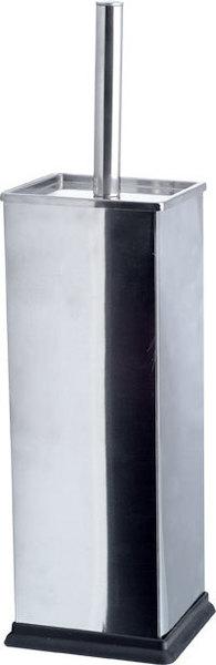 AQUALINE SIMPLE LINE WC-kefe, szögletes, 9,5x9,5x38 cm, csiszolt inox (GA1210)
