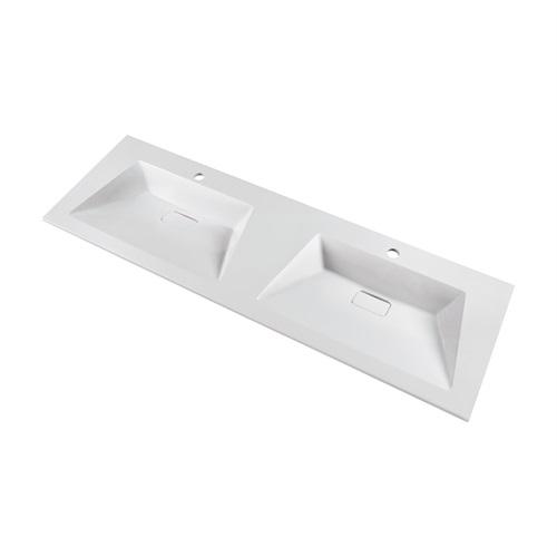 Marmy DELTA 140x46 dupla mosdó Kifutó darab csaka készlet erejéig