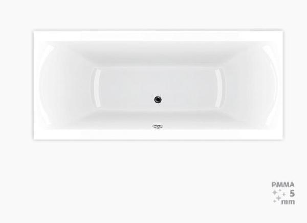 Téglalap alakú kád Laguna Cube Way Plus 160x70 cm, 100% akril, 250 l