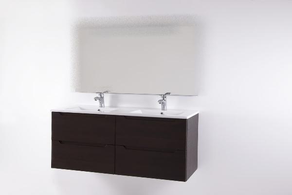 Hartyán Elit 120 mosdós fürdőszoba szekrény dió színben