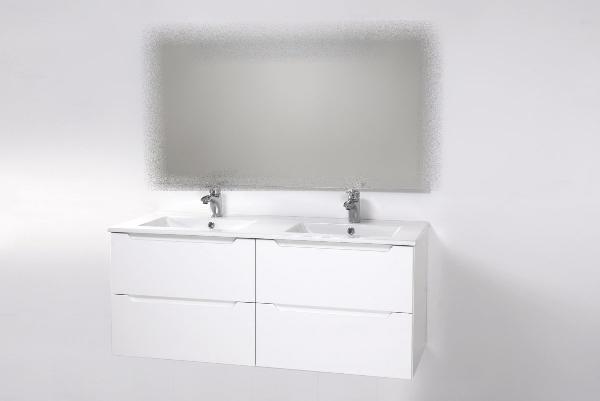 Hartyán Elit 120 mosdós fürdőszoba szekrény magasfényű fehér mdf
