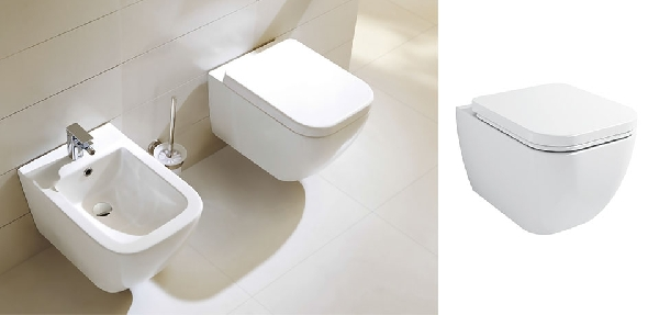 Wellis Ditte fali WC RIMLESS