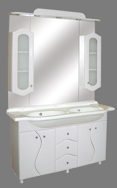 GUIDO PORCELÁN S-130 Fürdőszobaszekrény komplett