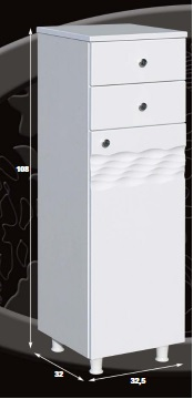 Guido Ocean-1011 fürdőszobabútor két fiókkal