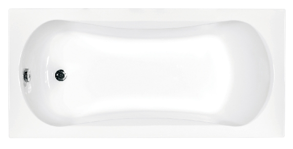 Besco Aria prosafe 140x70 akril egyenes kád - sekély