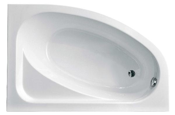 Besco Cornea 140x80 akril jobbos asszimetrikus kád