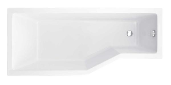 Besco Integra 170x75 akril balos asszimetrikus kád