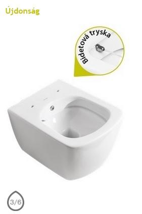 ELEGANT - WC + BIDÉ 2in1 Perem nélküli - EG321