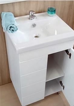 Hartyán Héra 55 SOFT MART mosdós 2 ajtós fürdőszoba szekrény