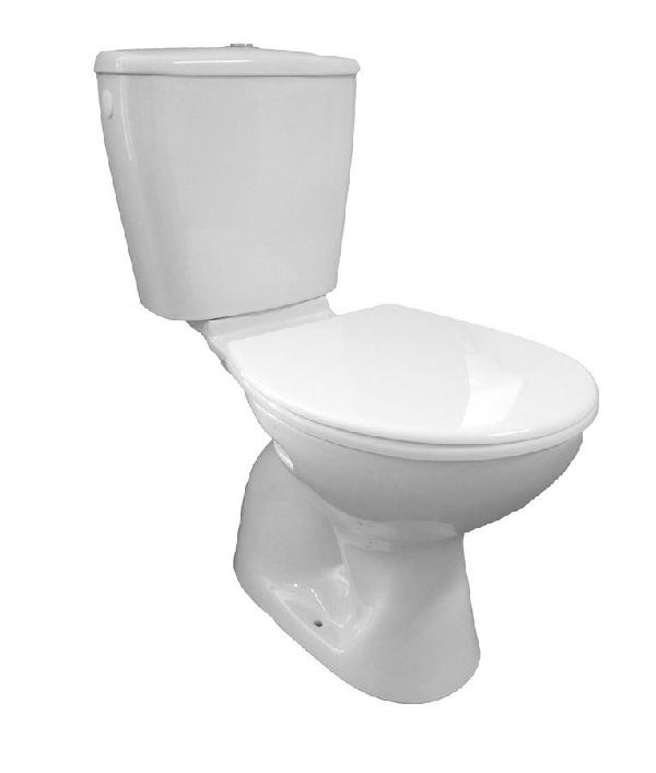 AQUALINE MIGUEL WC kombi alsó kifolyású, öblítőtartállyal, króm dual gombos öblítéssel (LC2258)