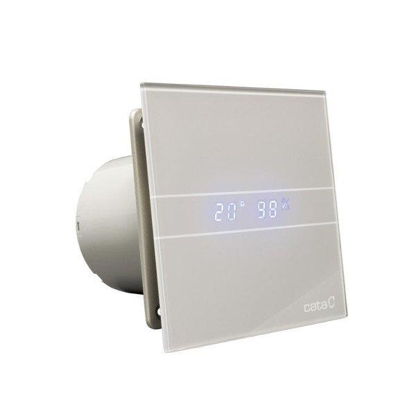 Sapho CATA E-100 GSTH ventilátor, 4/8W, automatikus, o100mm, Ezüst