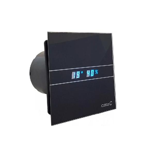 Sapho CATA E-100 GTH BK ventilátor, 4/8W, automatikus, o100mm, fekete