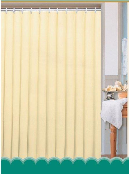 Sapho AQUALINE Zuhanyfüggöny 180x200cm, 100% polyester, fehér