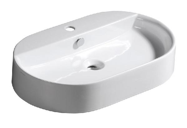 Sapho KERASAN RING Pultra szerelhető mosdó 65x12x40 cm