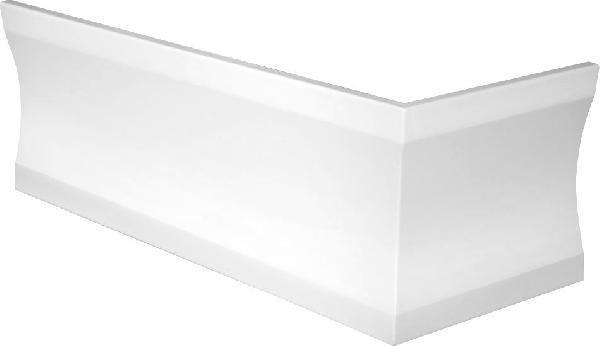 Sapho POLYSAN CLEO 170x75 sarok előlap, 59cm, fehér