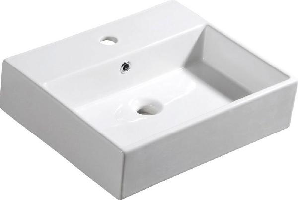 Sapho ISVEA PURITY Pultra szerelhető mosdó 50x13x42 cm