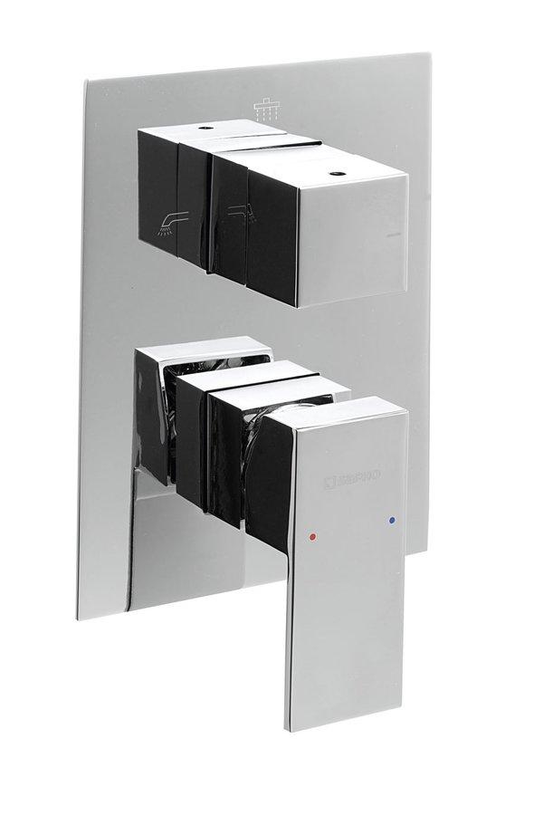 Sapho LATUS falsík alatti zuhanycsaptelep három irányú, króm 1102-44