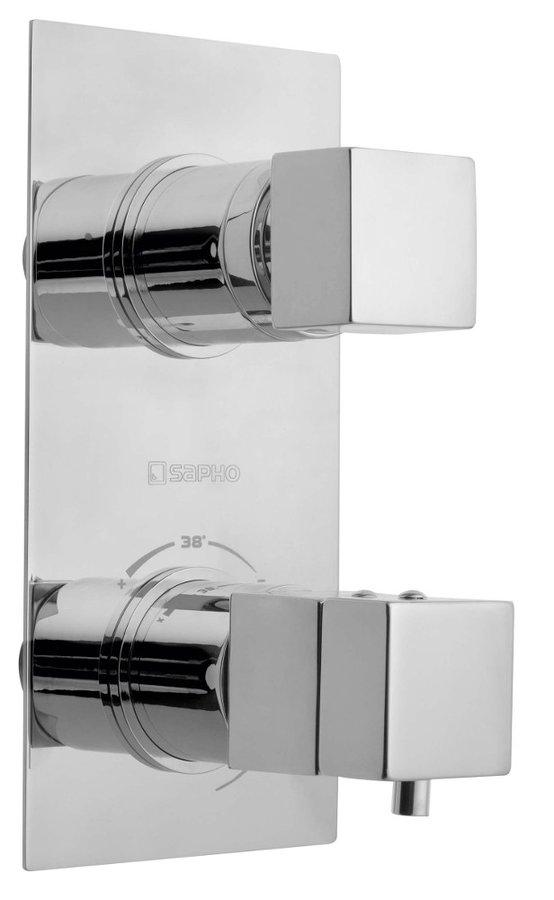 Sapho LATUS falbaépíthető termosztátos csaptelep, 2 irányú, króm 1102-85