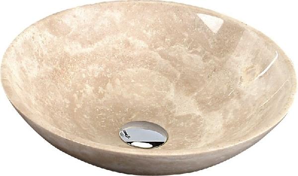Sapho BLOK kőmosdó 40x12 cm, csiszolt bézs, Travertin 2401-01