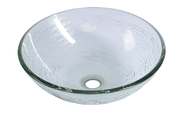 Sapho BEAUTY RIPPLE üveg mosdó, átmérőr 42 cm  2501-18