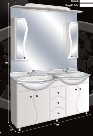 "Guido ""S"" MODELL 2007 komplett fürdőszoba bútor márvány lappal"