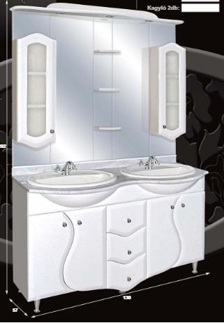 Guido S modell 2007 komplett fürdőszoba bútor üveges ajtóval