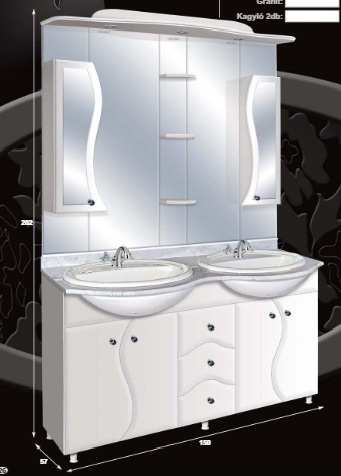 "Guido ""S"" MODELL 2004 komplett fürdőszoba bútor"