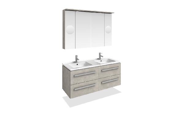 Tboss Modena fürdőszobabútor szett 120cm (2M/2CS) - több színben
